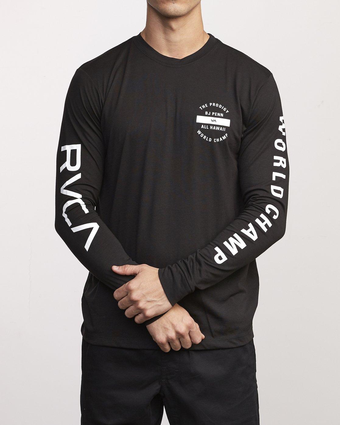 0 BJ Penn Arc Drirelease Long Sleeve T-Shirt Black V453WRBA RVCA