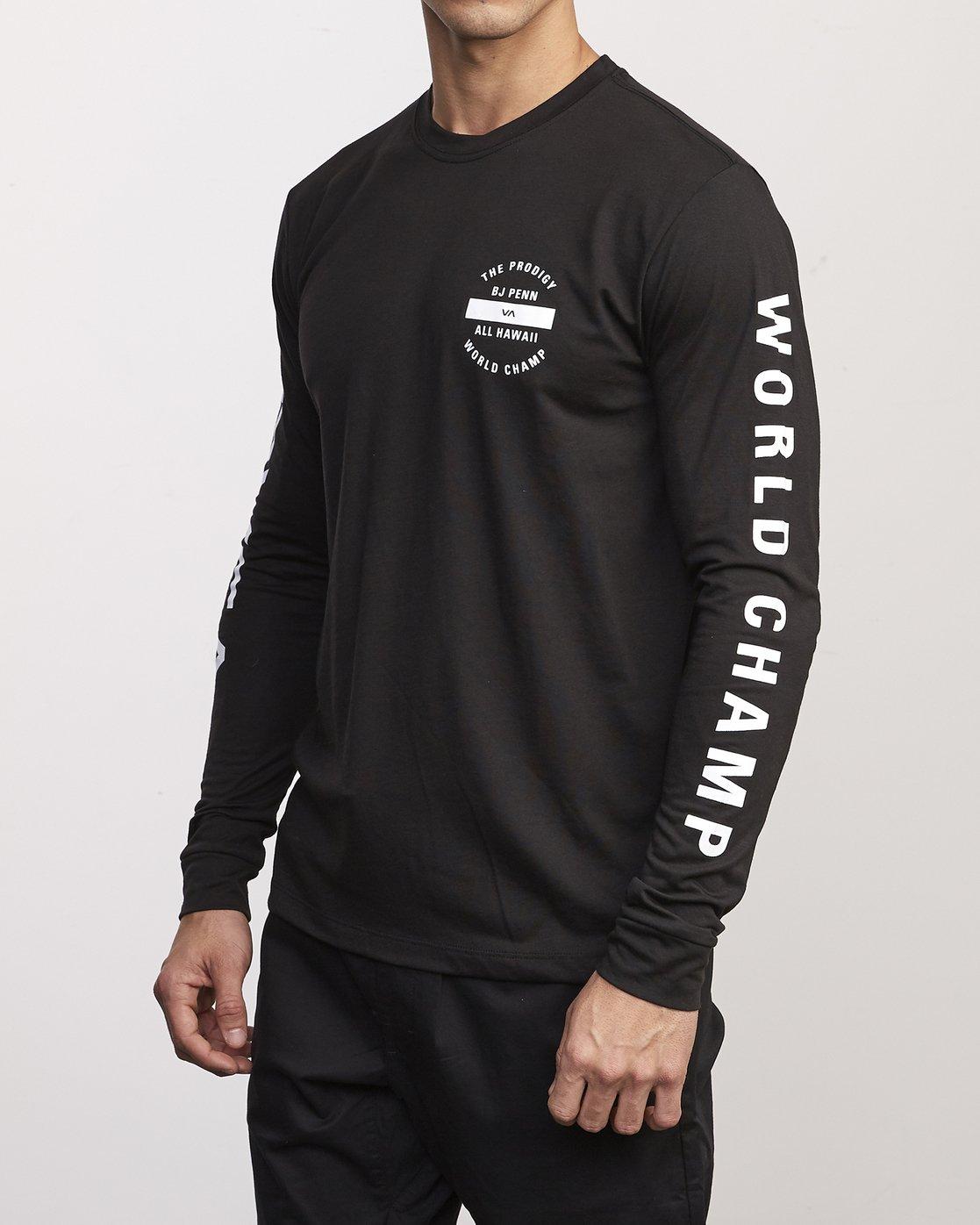 1 BJ Penn Arc Drirelease Long Sleeve T-Shirt Black V453WRBA RVCA