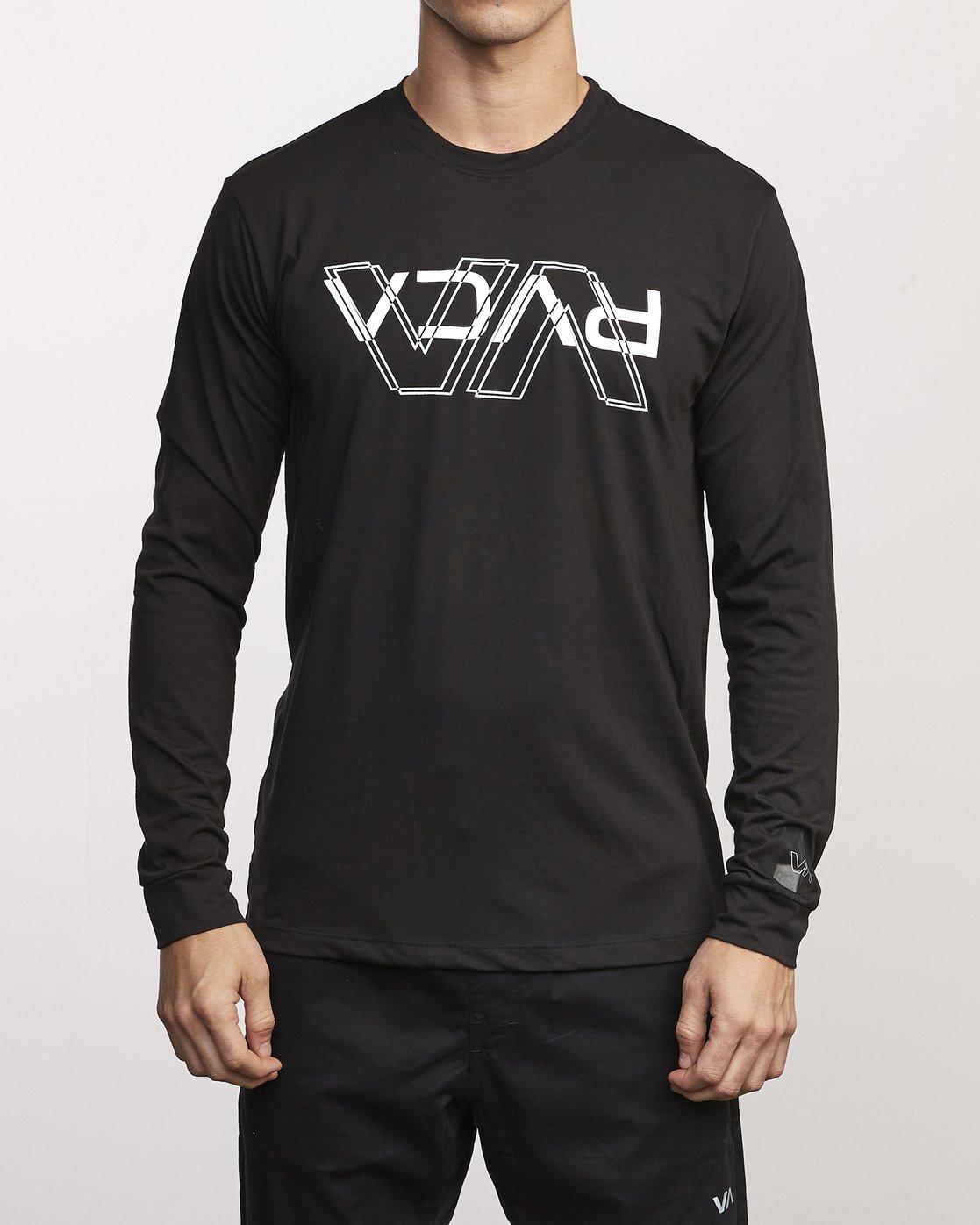 0 VA Out Drirelease Long Sleeve T-Shirt Black V453WRVO RVCA