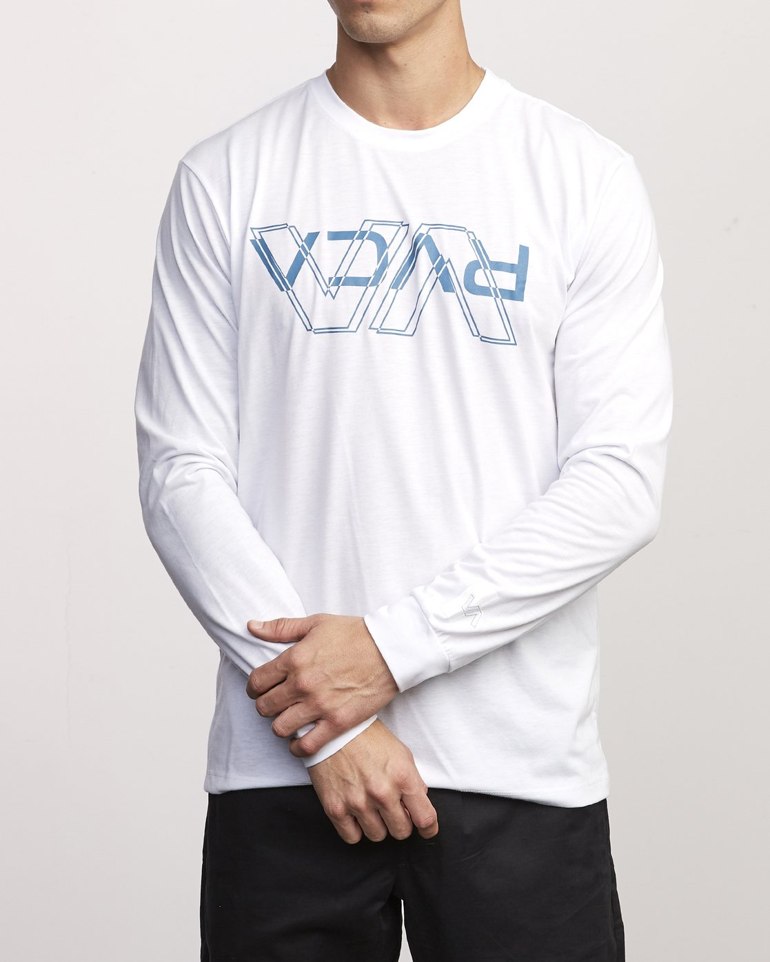 0 VA Out Drirelease Long Sleeve T-Shirt White V453WRVO RVCA