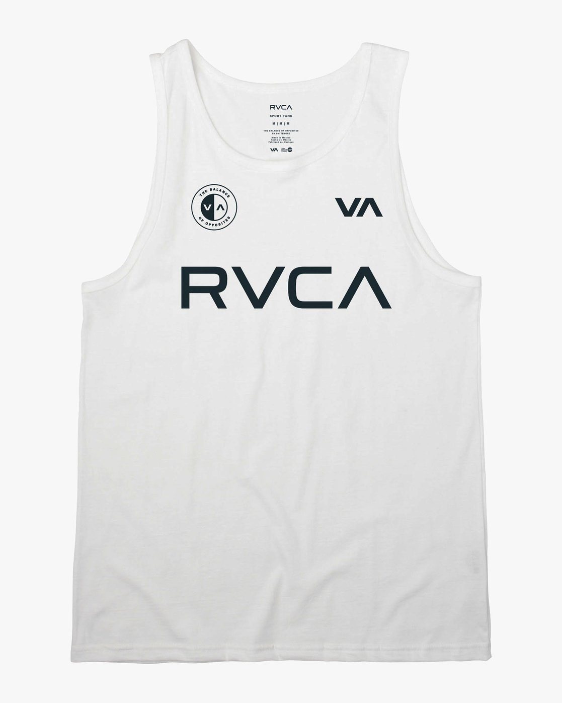 0 RVCA Club Tank Top White V482VRRC RVCA
