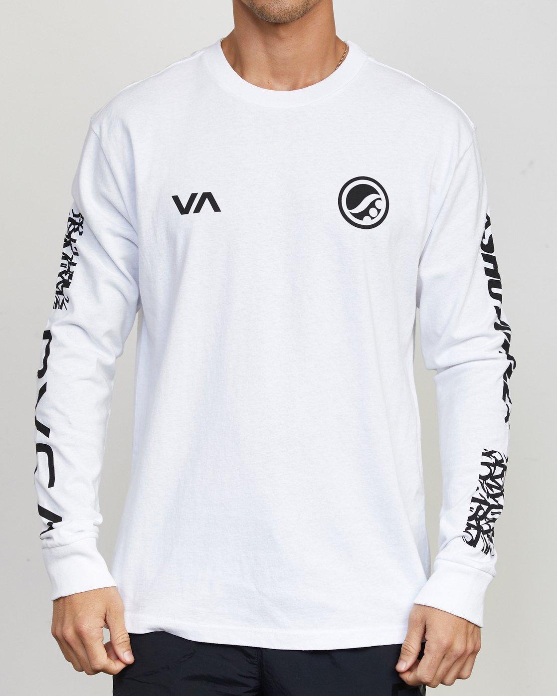 1 Shoyoroll Defer Vaxsho LS Tee White V492WRDS RVCA