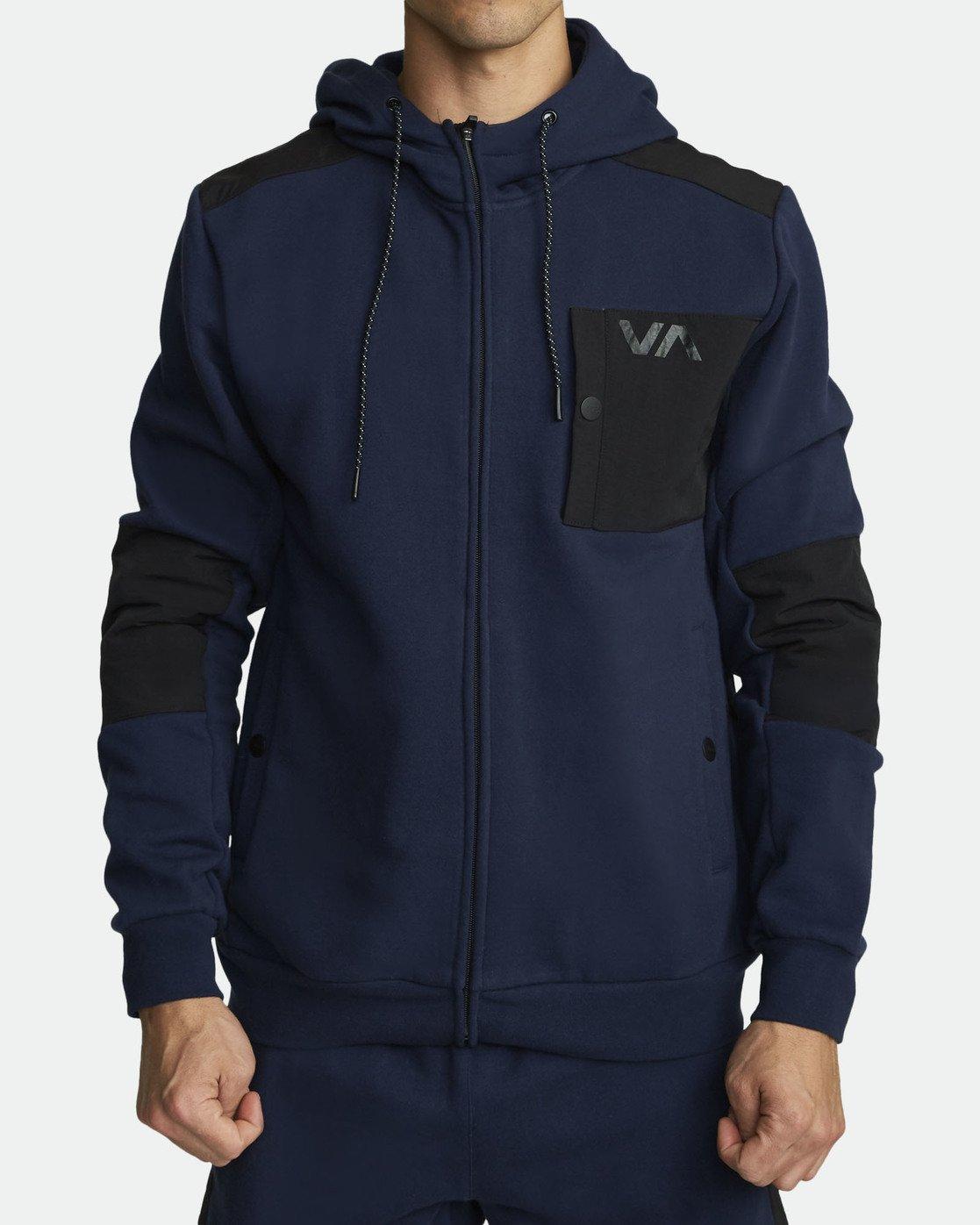 0 HYBRID FULL ZIP HOODIE Blue V6021RHZ RVCA
