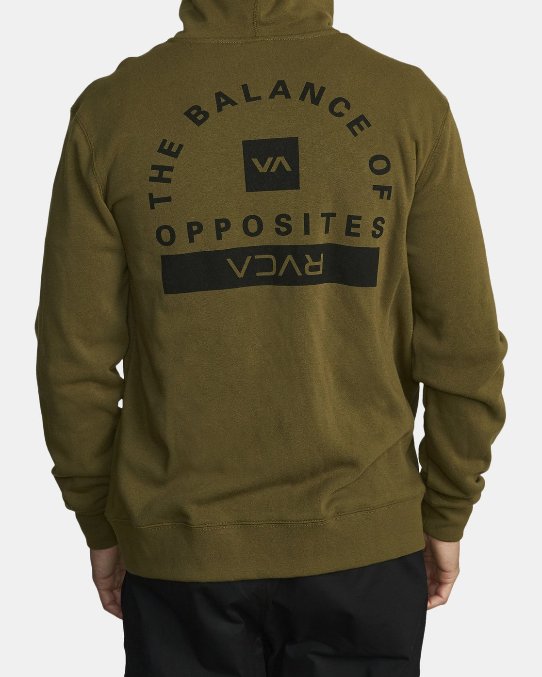 1 CAGE HOODIE Green V602TRCH RVCA