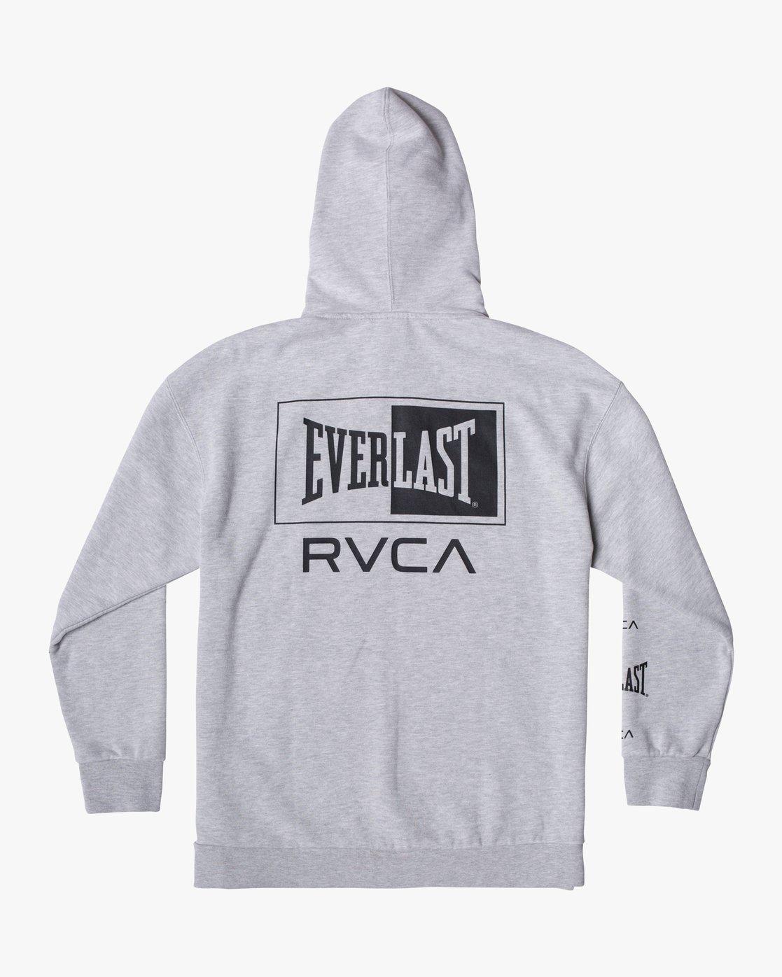 1 EVERLAST SPORT HOODIE Grey V6041REH RVCA