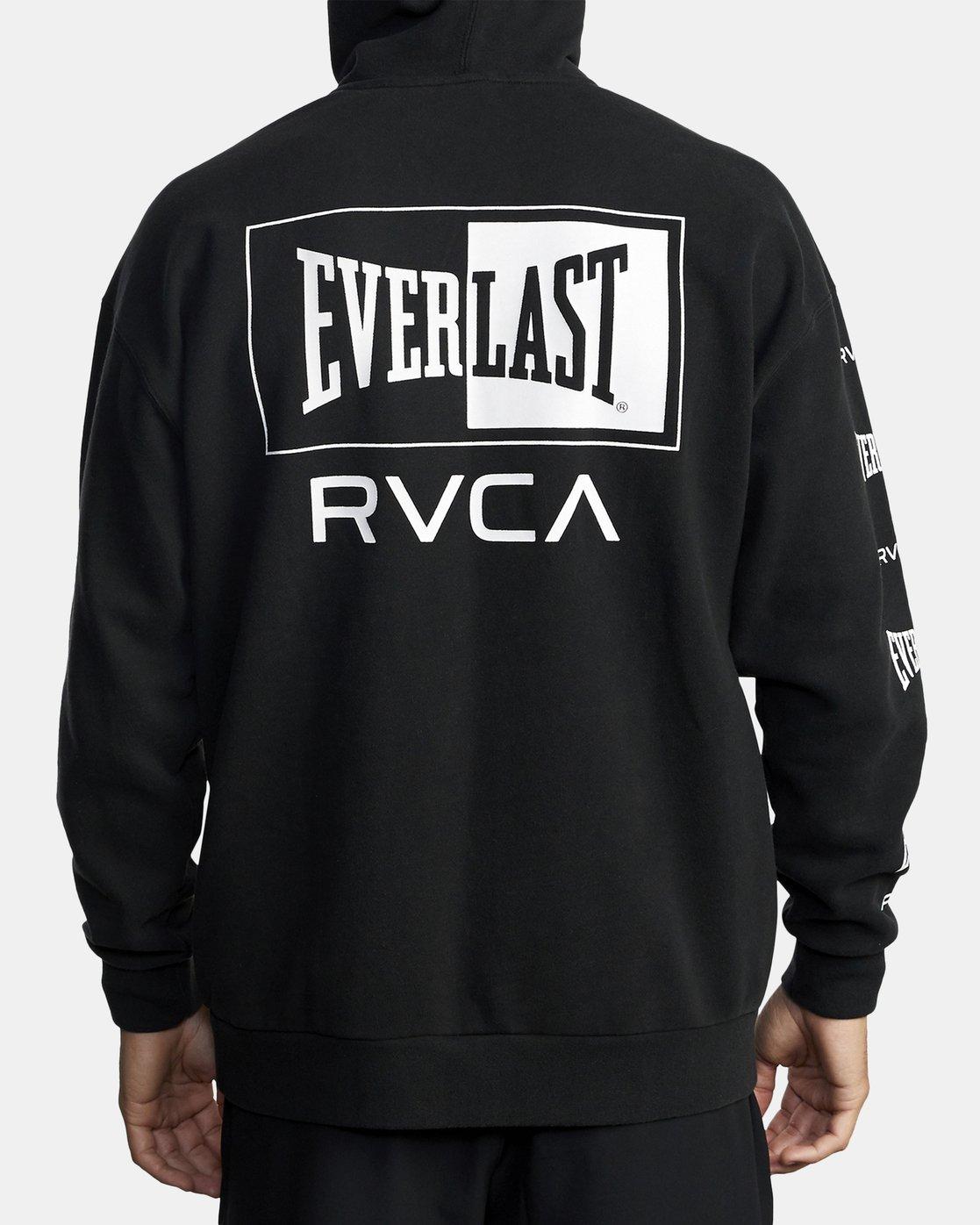 6 EVERLAST SPORT HOODIE Black V6041REH RVCA