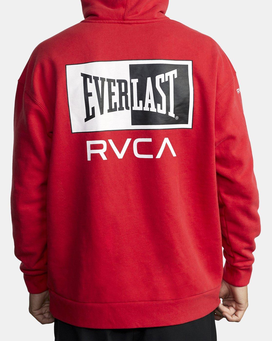 6 EVERLAST SPORT HOODIE Red V6041REH RVCA
