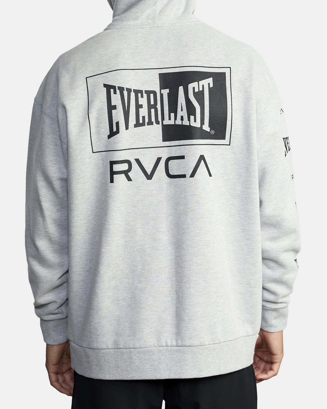 5 EVERLAST SPORT HOODIE Grey V6041REH RVCA