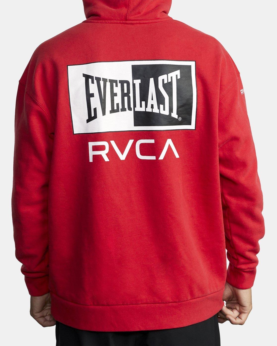 2 EVERLAST SPORT HOODIE Red V6041REH RVCA