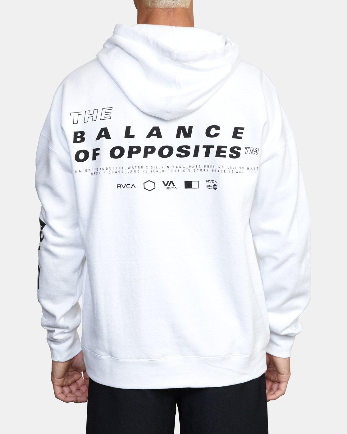 1 Sport Fleece hoodie White V6043RSH RVCA