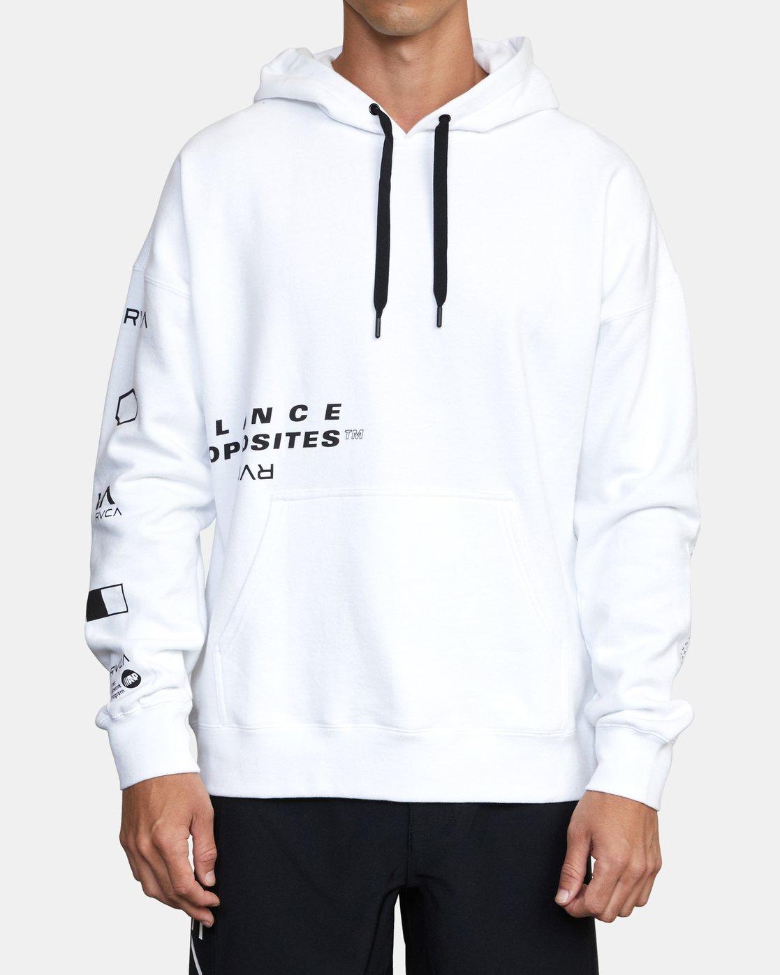 0 Sport Fleece hoodie White V6043RSH RVCA