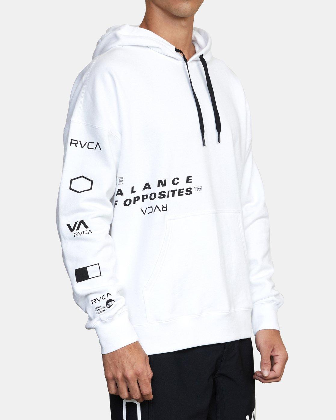 3 Sport Fleece hoodie White V6043RSH RVCA