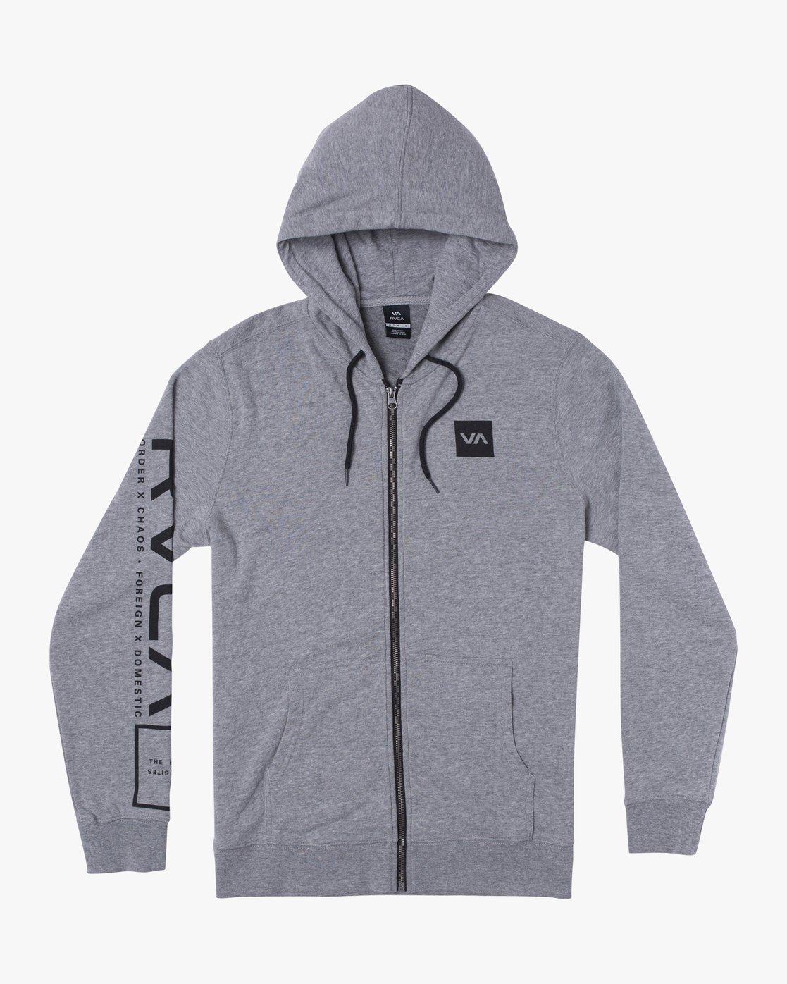 0 SWIFT HOODIE Grey V6053RSH RVCA