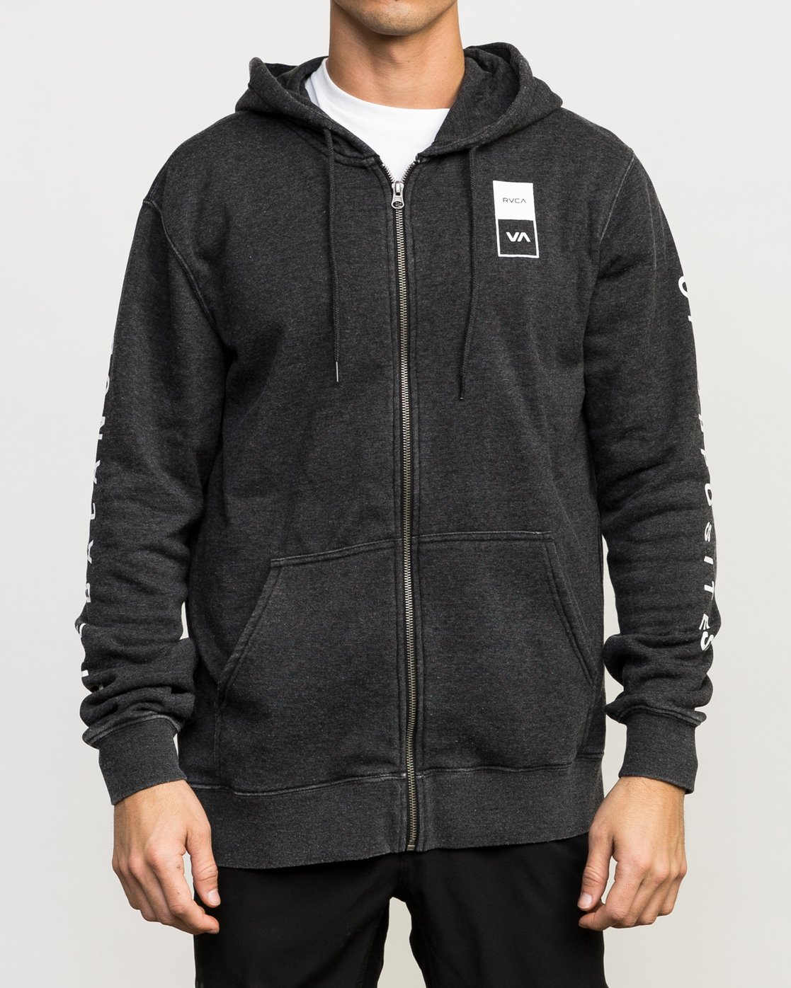3 VA Guard Fleece Hoodie Black V605QRGH RVCA