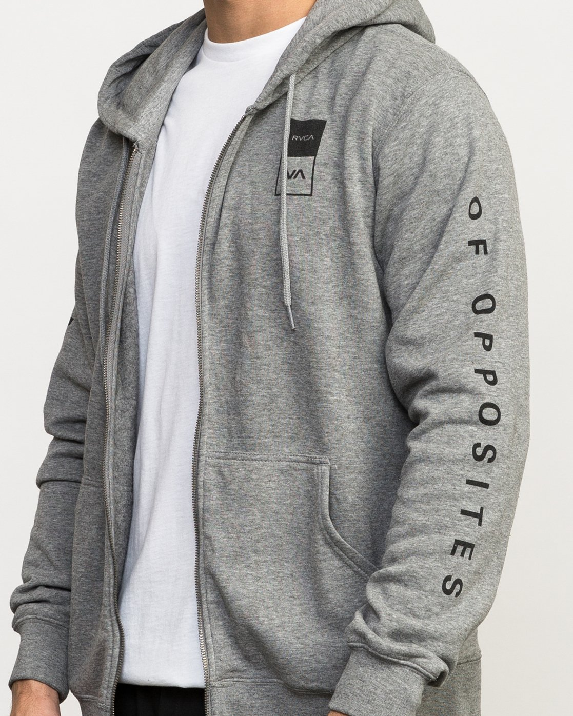 6 VA Guard Fleece Hoodie Grey V605QRGH RVCA
