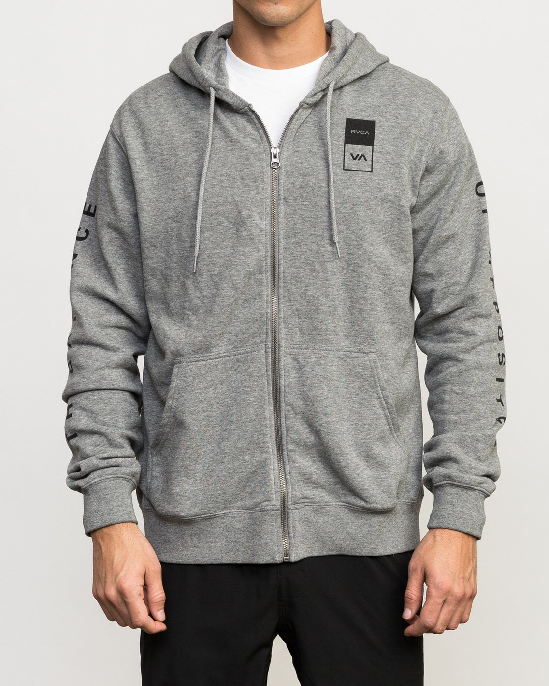 2 VA Guard Fleece Hoodie Grey V605QRGH RVCA