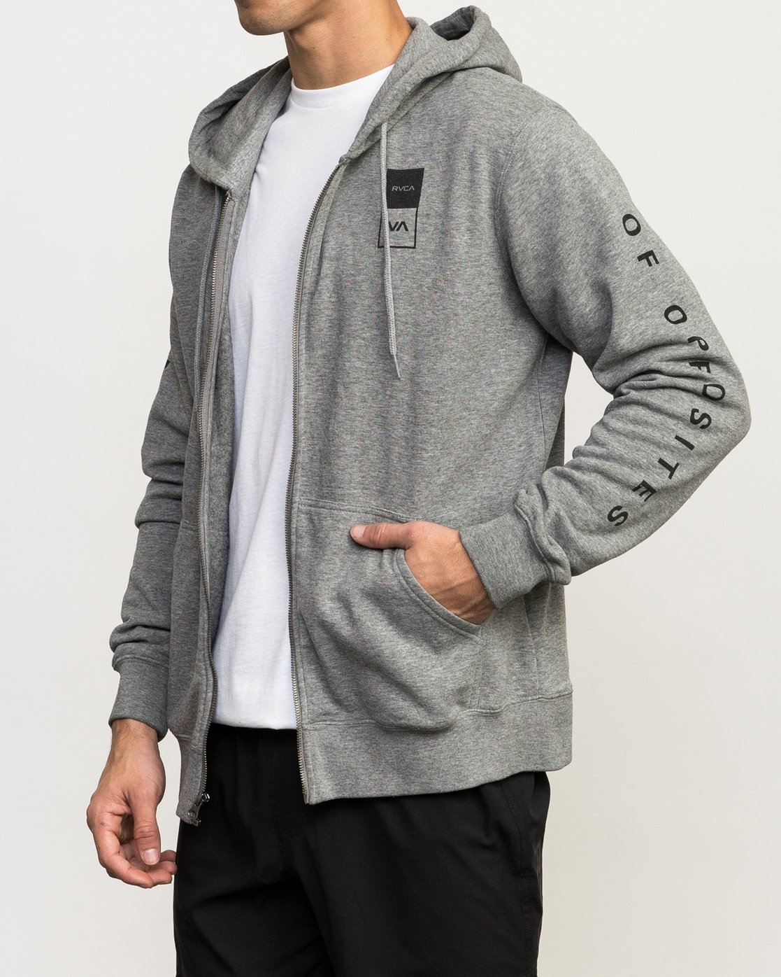 3 VA Guard Fleece Hoodie Grey V605QRGH RVCA