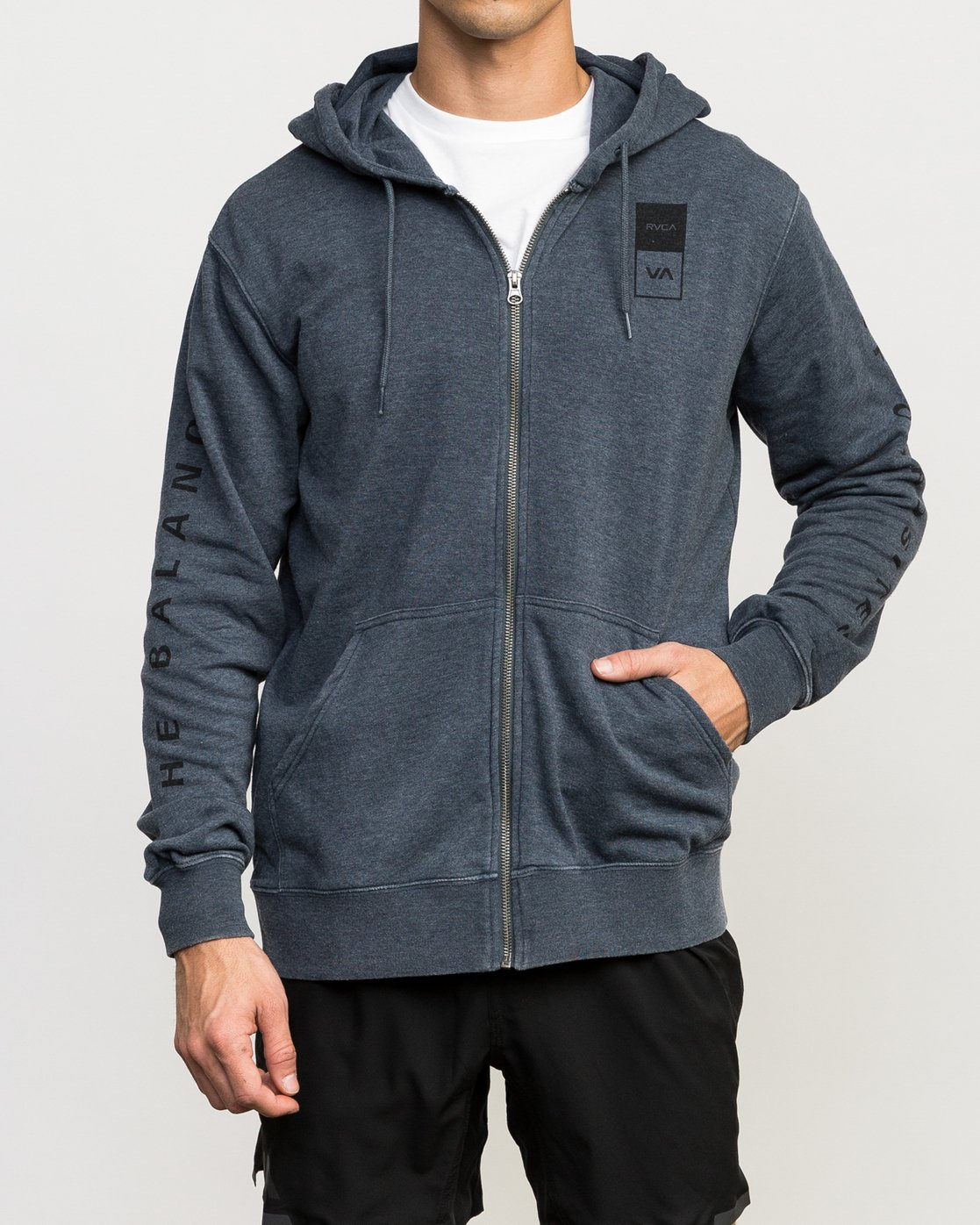 2 VA Guard Fleece Hoodie Blue V605QRGH RVCA