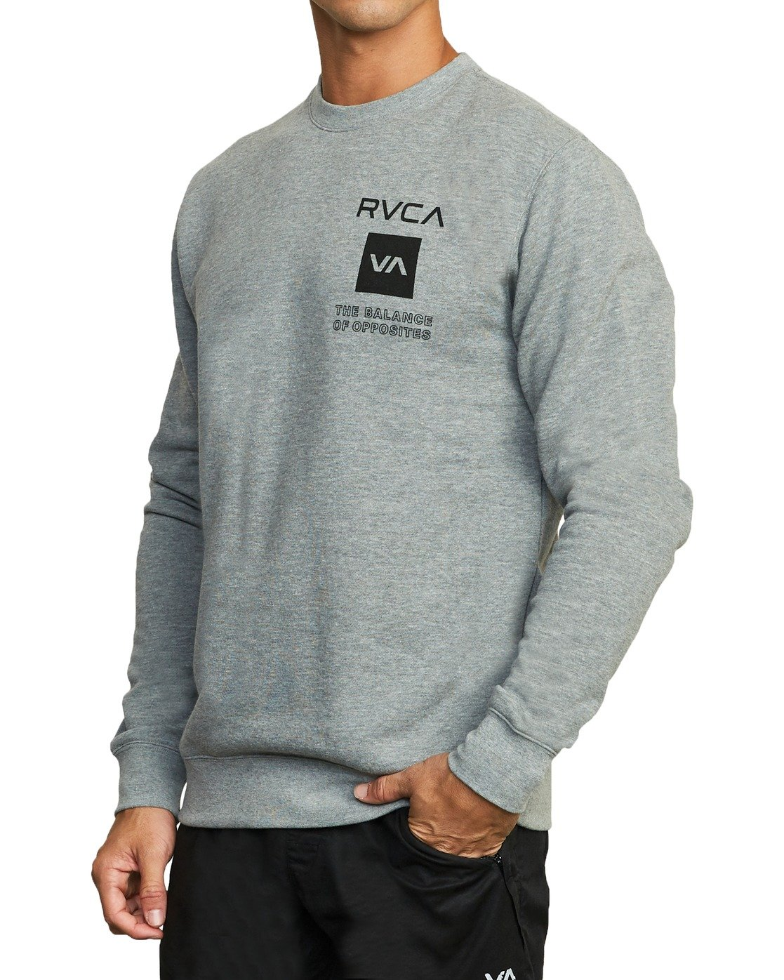 5 SPORT GRAPHIC PULLOVER SWEATSHIRT Grey V6063RSP RVCA