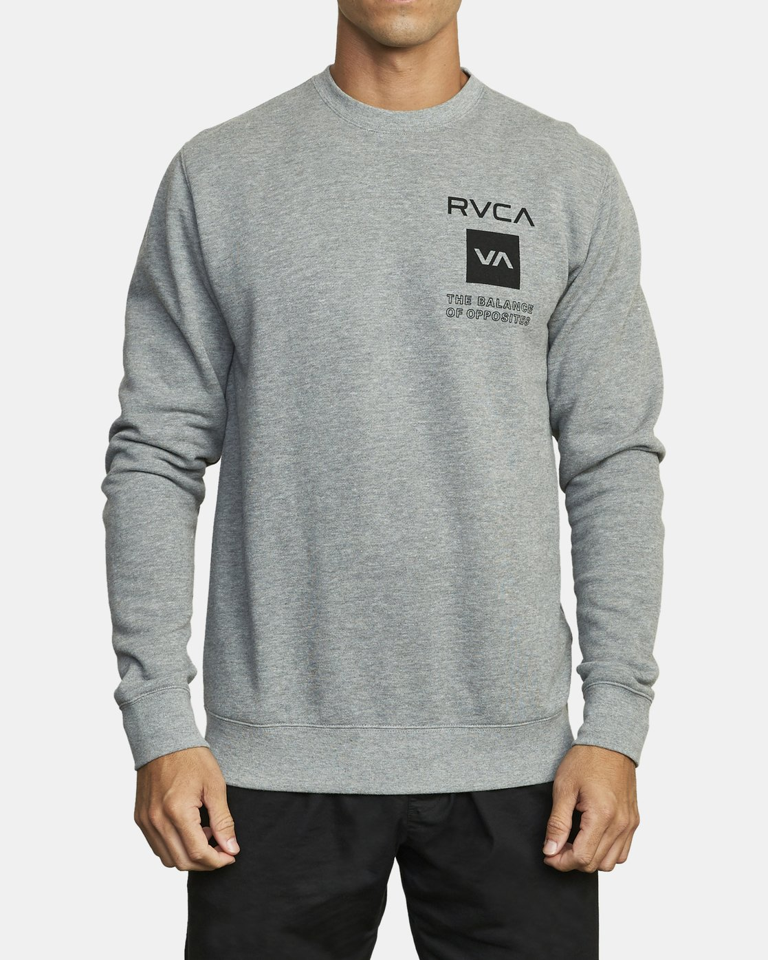 2 SPORT GRAPHIC PULLOVER SWEATSHIRT Grey V6063RSP RVCA
