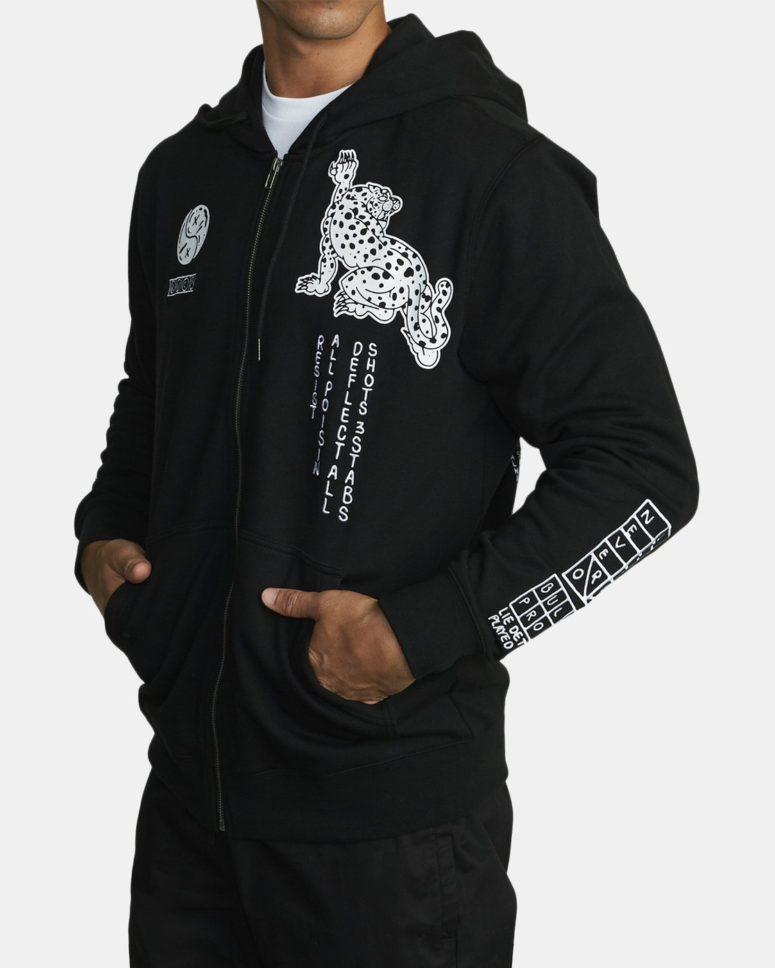 2 BULLET PROOF FLEECE Black V6172RBU RVCA