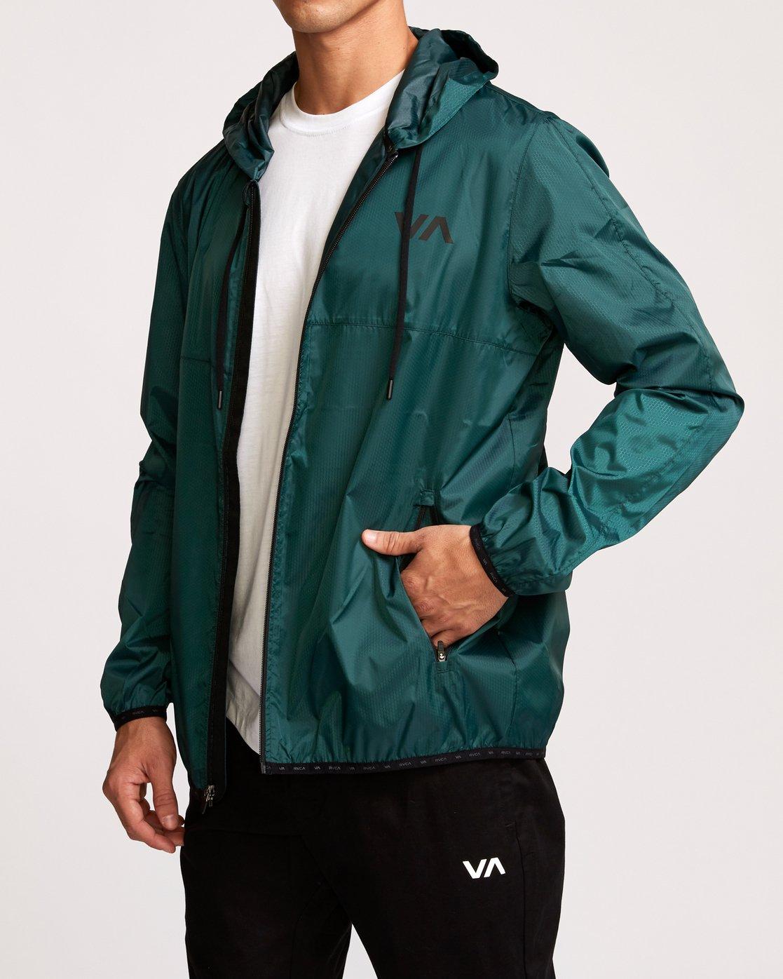 3 Hexstop IV Jacket Green V701TRHP RVCA