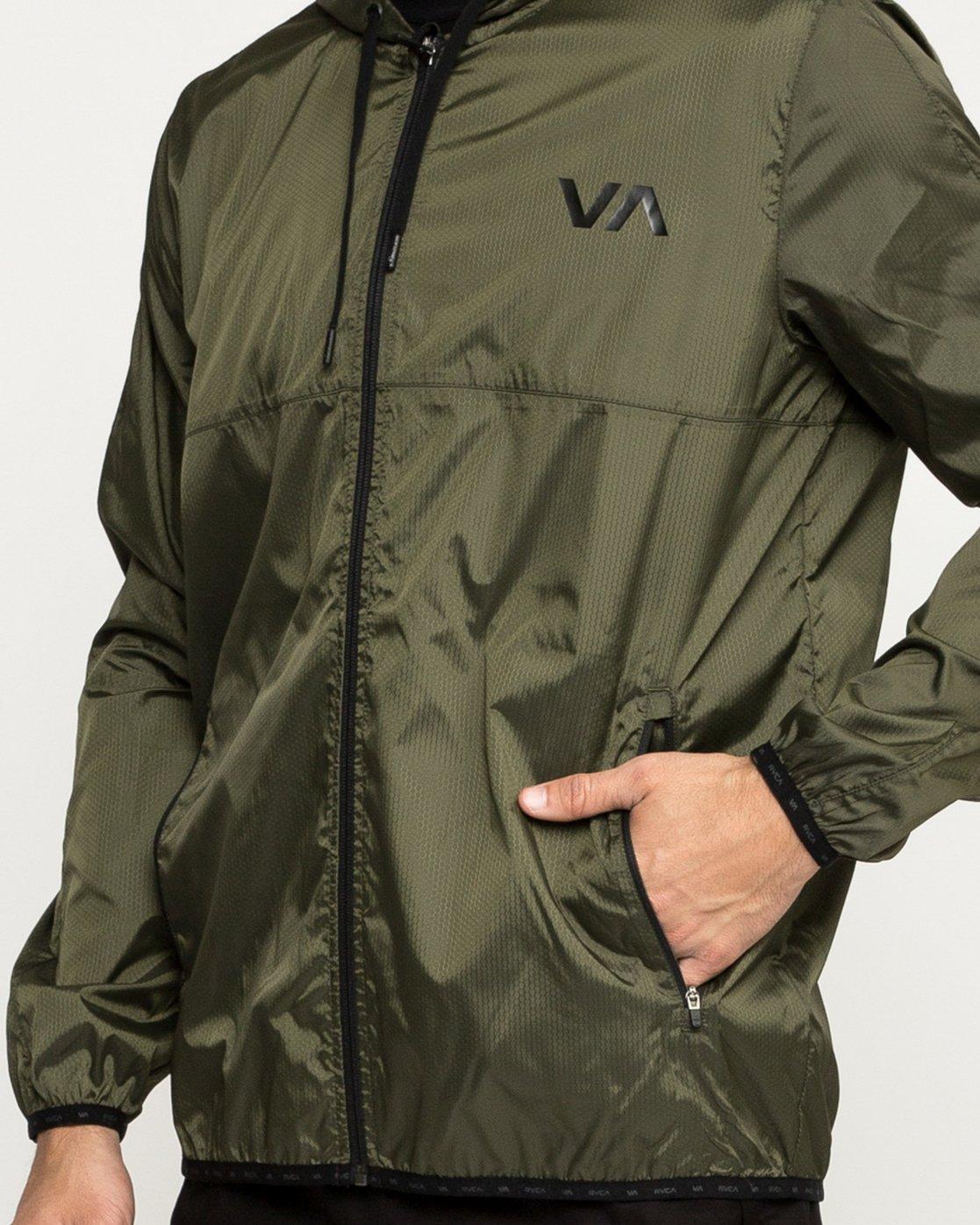 4 Hexstop IV Jacket Green V701TRHP RVCA