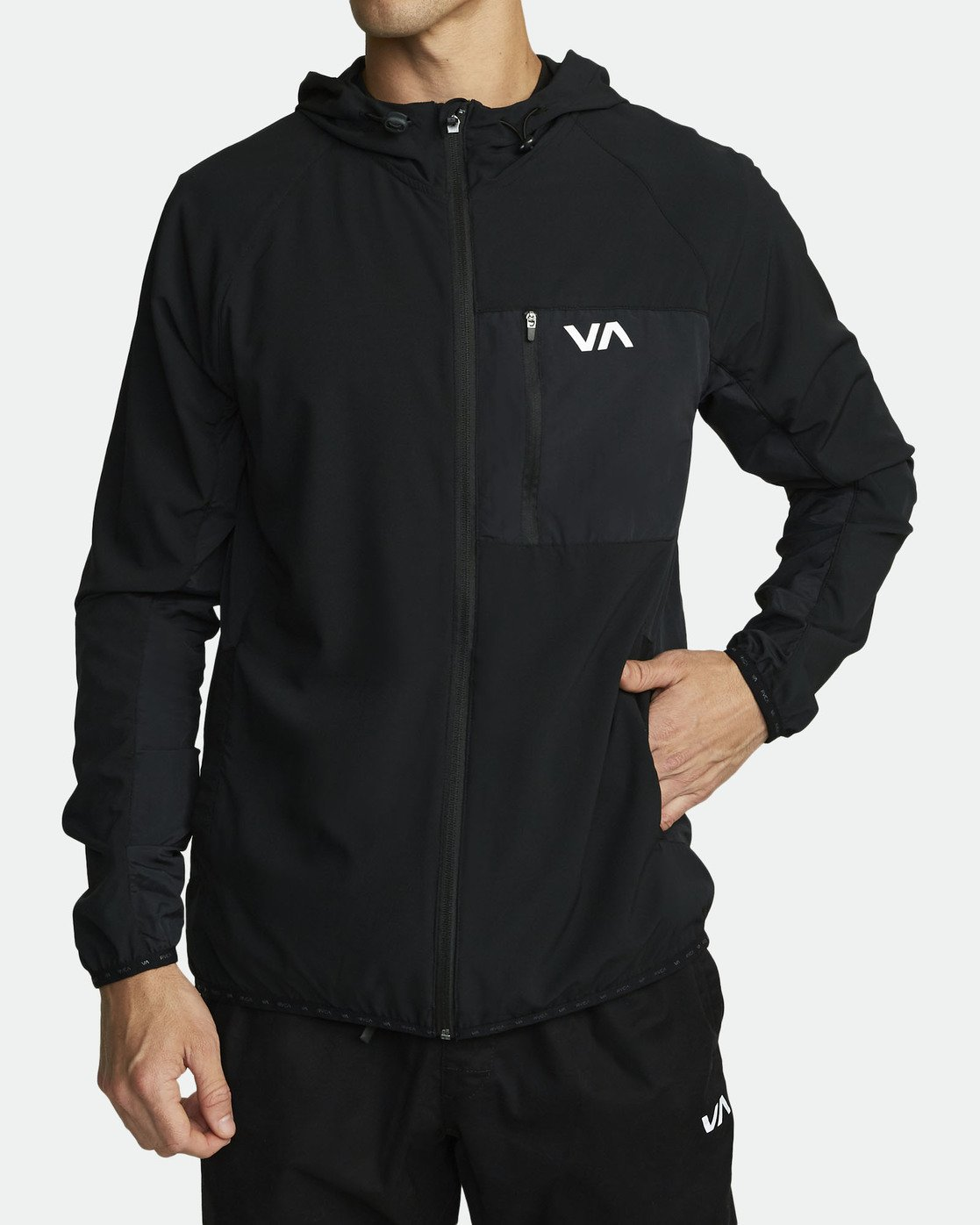 2 YOGGER TRACK JACKET (Previous Season) Black V7021RYJ RVCA