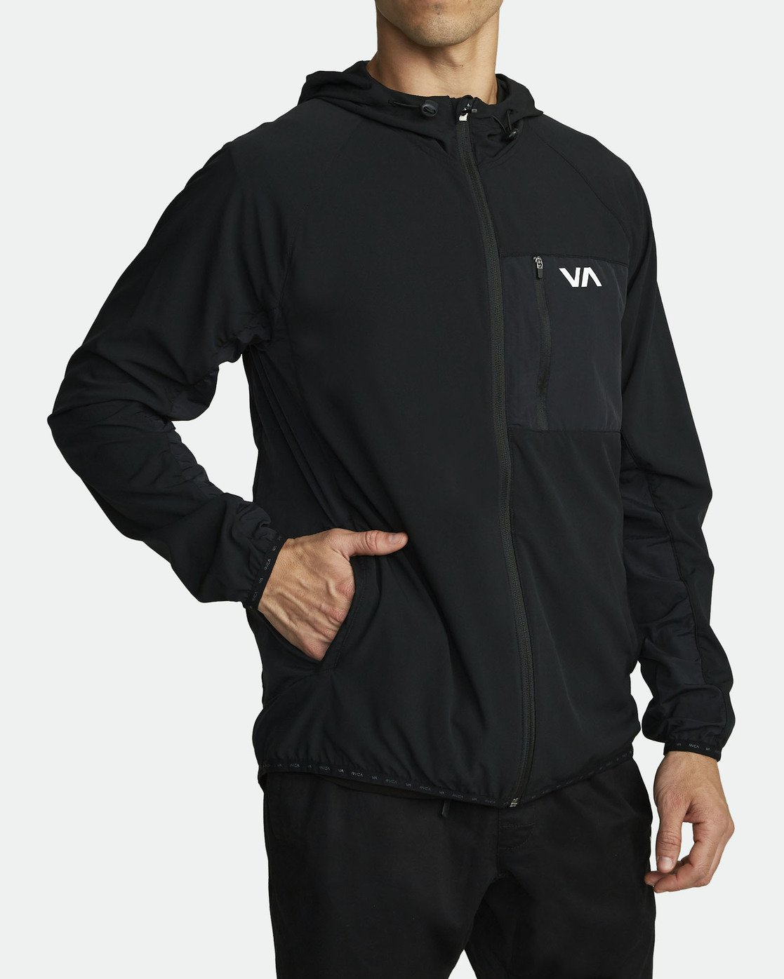 3 YOGGER TRACK JACKET (Previous Season) Black V7021RYJ RVCA