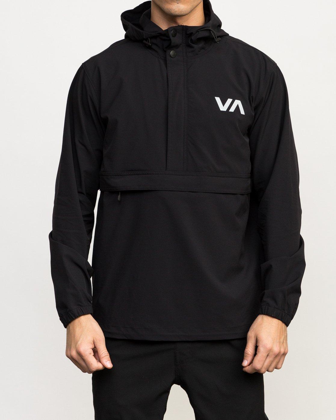 1 VA Anorak Jacket Black V702QRAN RVCA