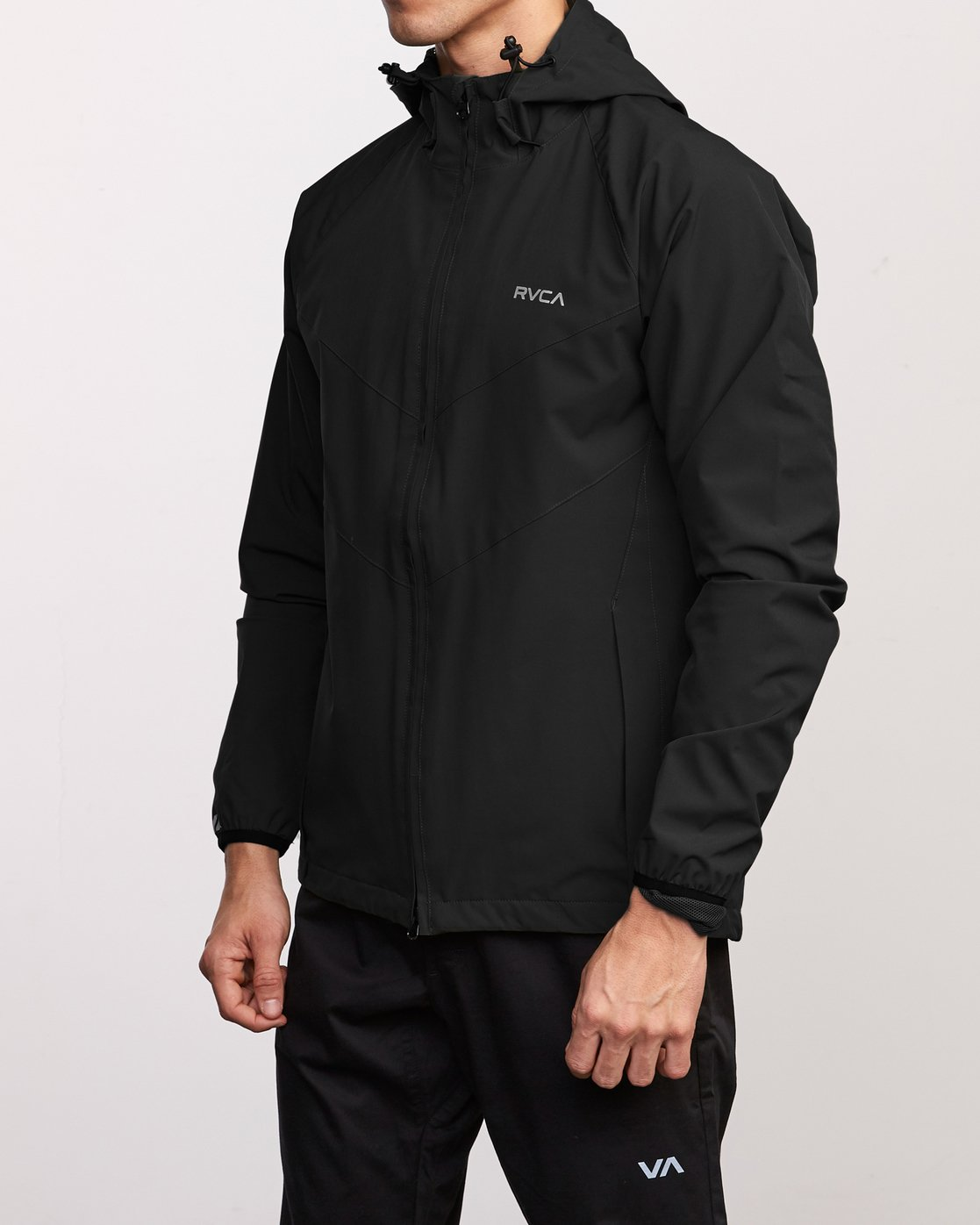 3 VA Windbreaker Jacket Black V705TRWI RVCA