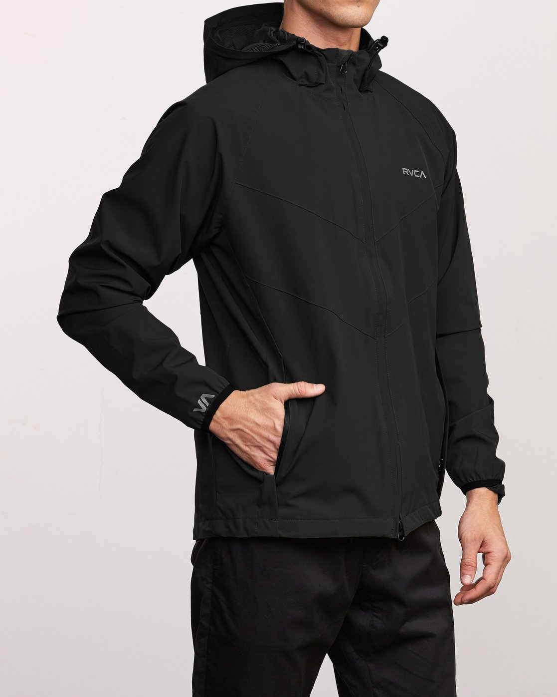 5 VA Windbreaker Jacket Black V705TRWI RVCA