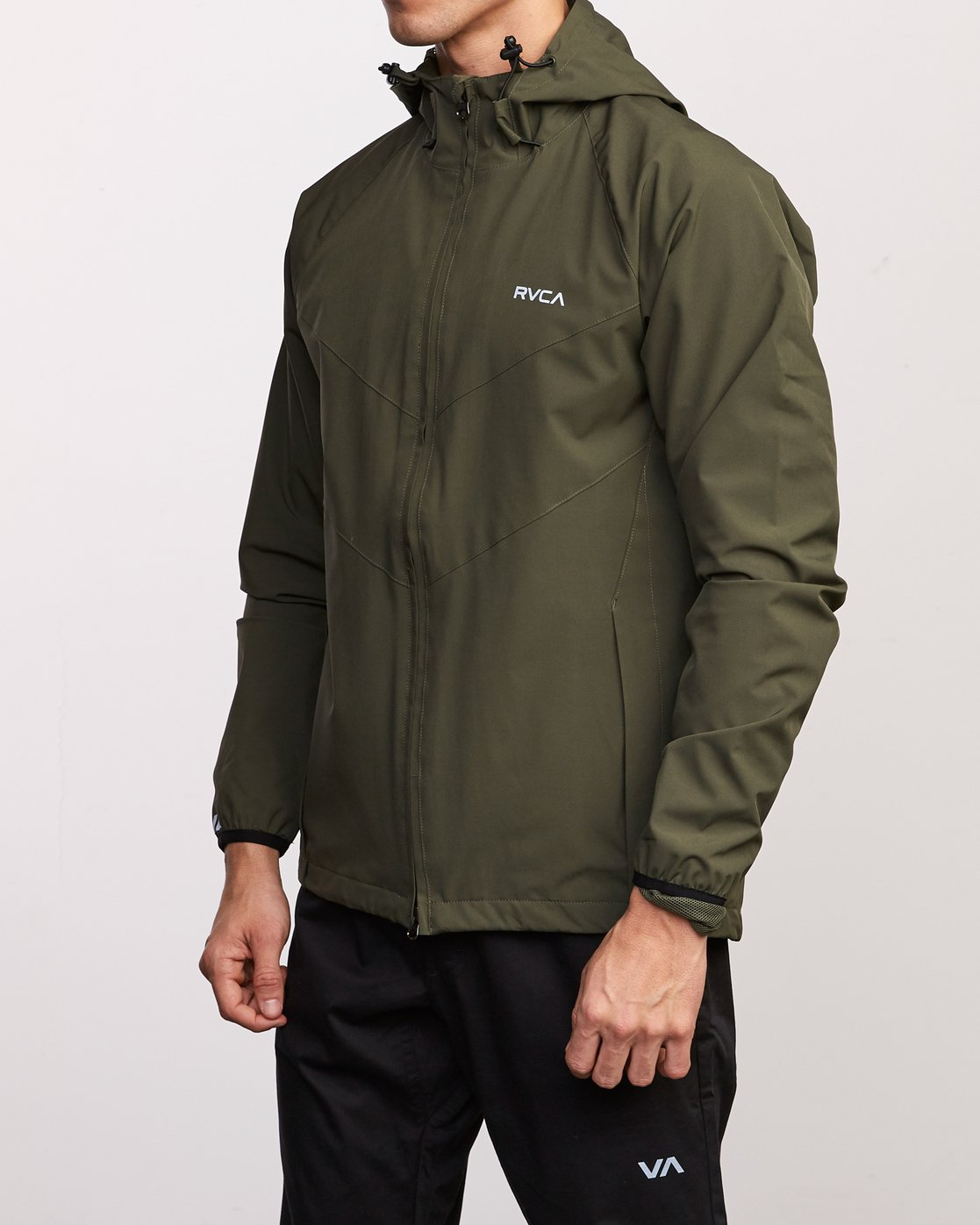 3 VA Windbreaker Jacket Green V705TRWI RVCA