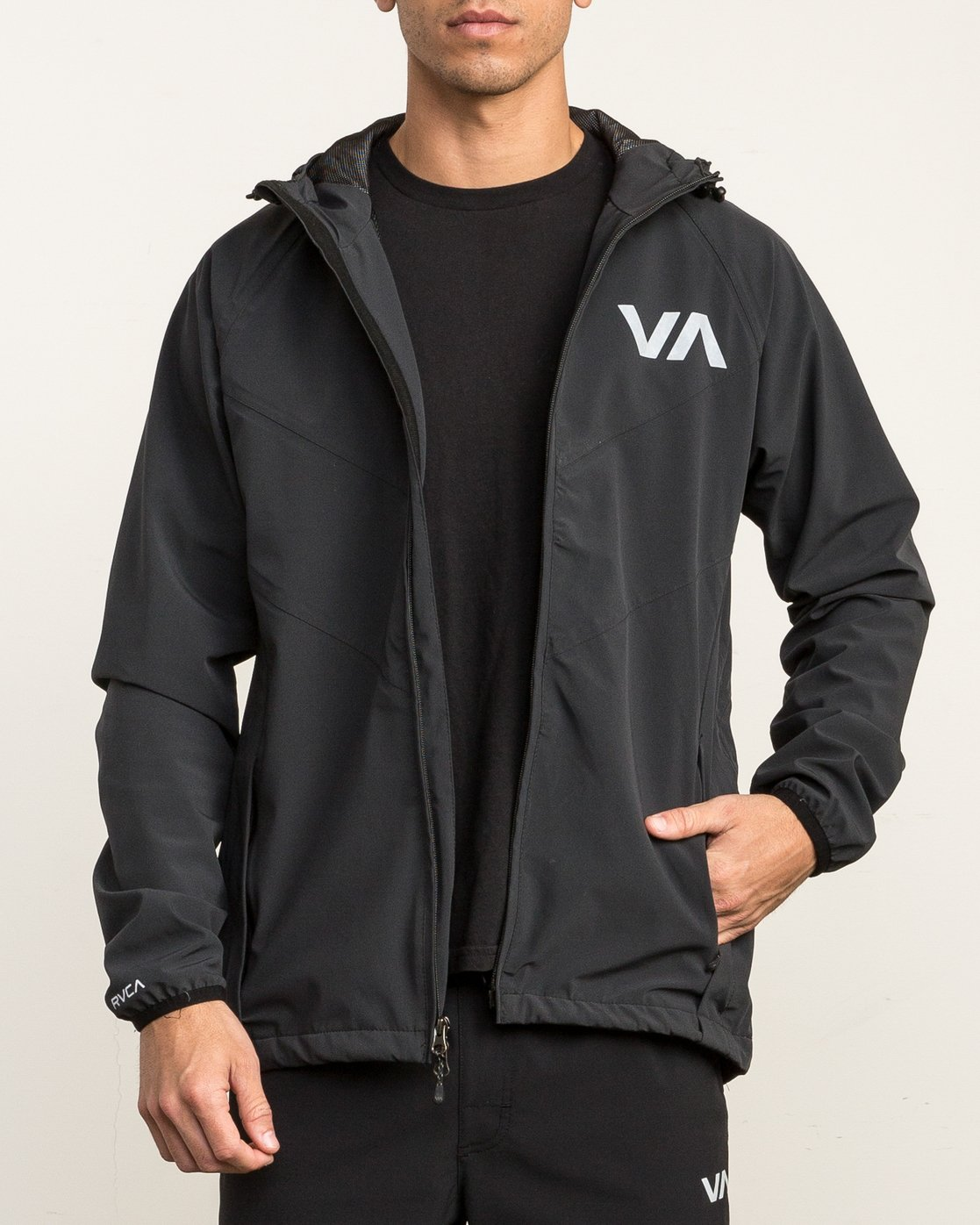3 VA Windbreaker Jacket Black V7701VAW RVCA
