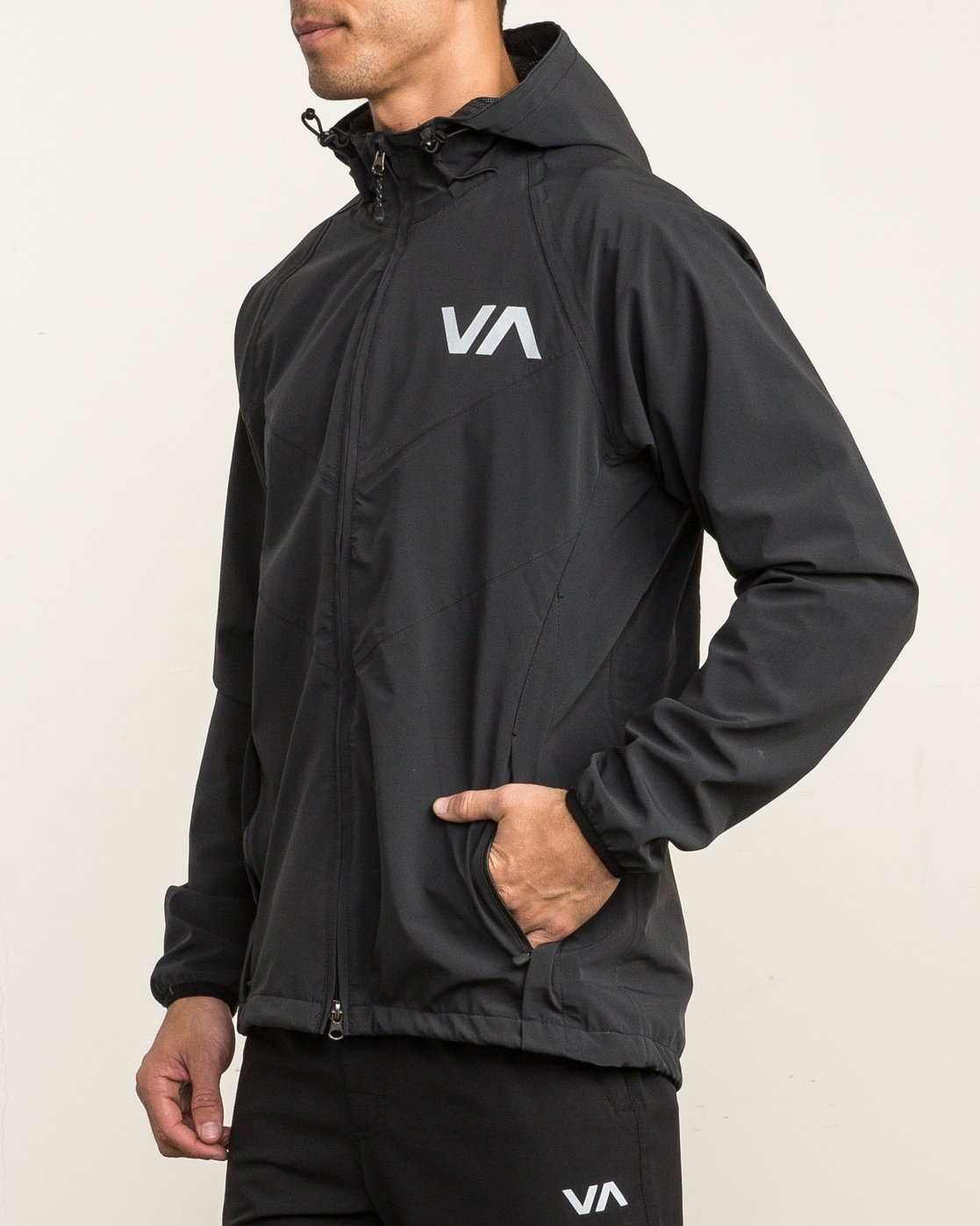 4 VA Windbreaker Jacket Black V7701VAW RVCA