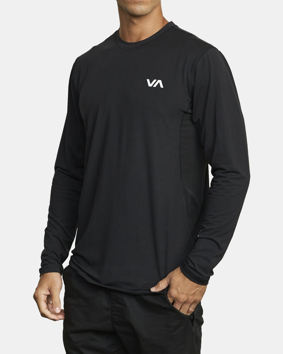 3 SPORT VENT LONG SLEEVE TEE Black V9011RSV RVCA