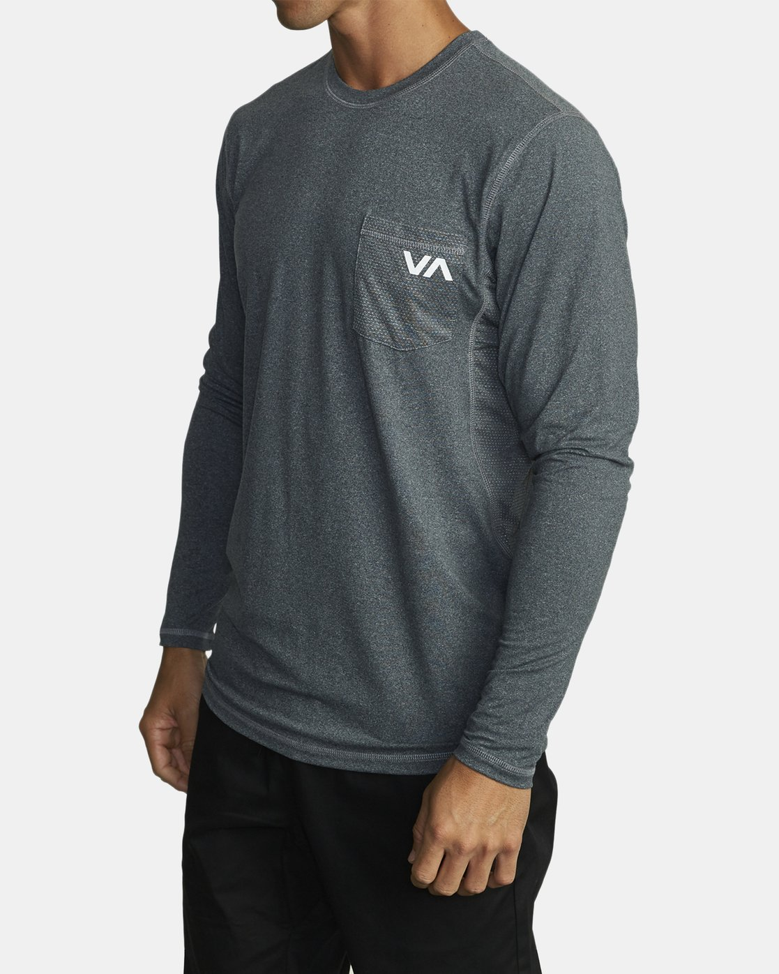 1 SPORT VENT LONG SLEEVE TOP Brown V9011RSV RVCA