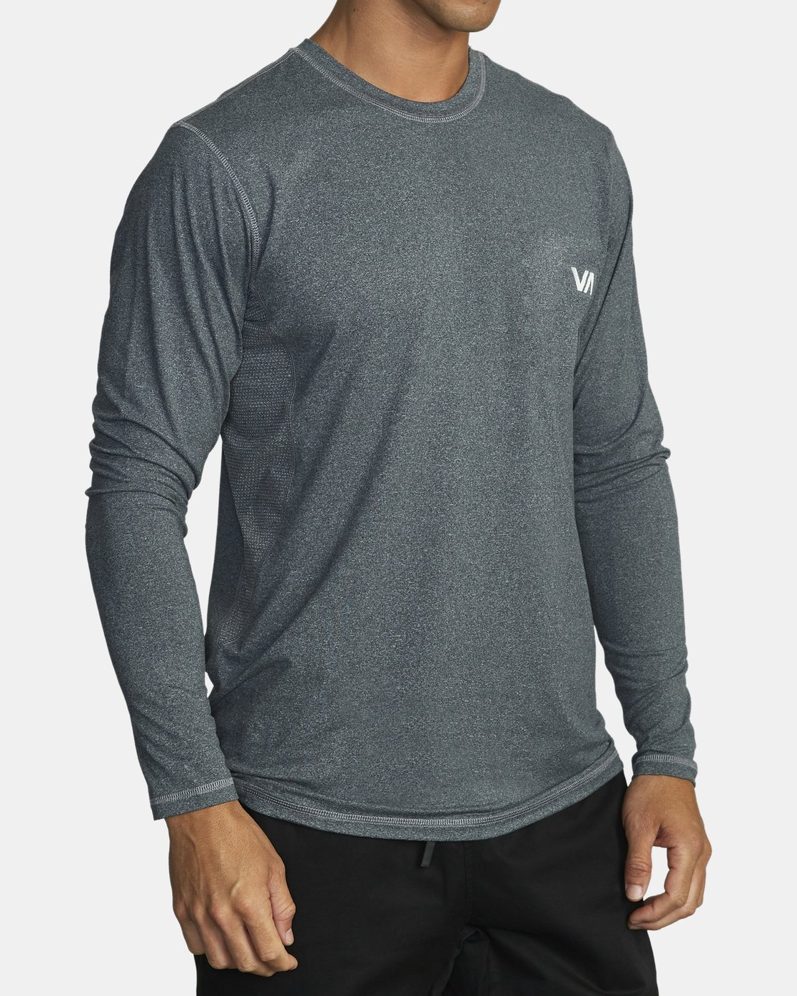 2 SPORT VENT LONG SLEEVE TOP Brown V9011RSV RVCA