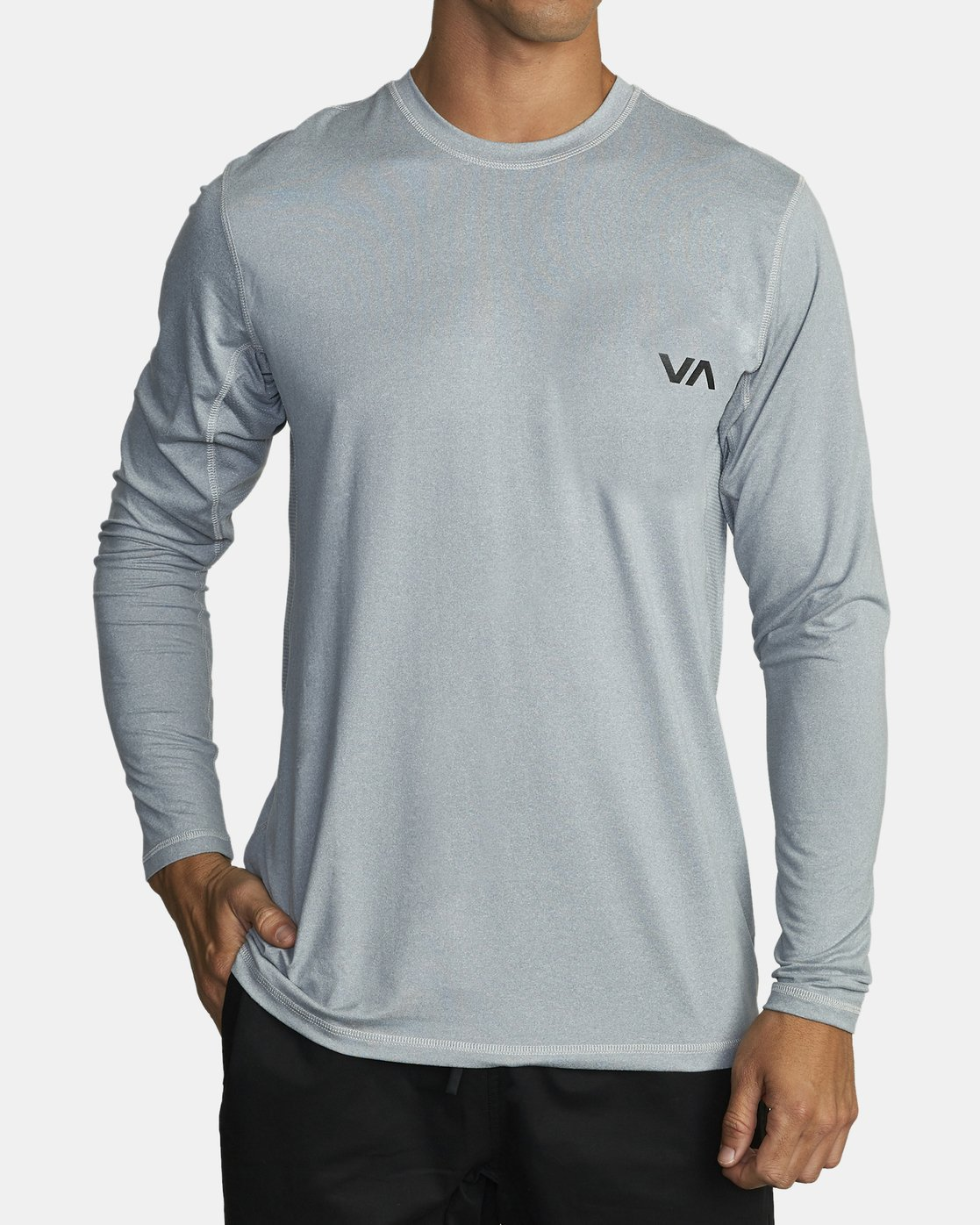 1 SPORT VENT LONG SLEEVE TEE Grey V9011RSV RVCA