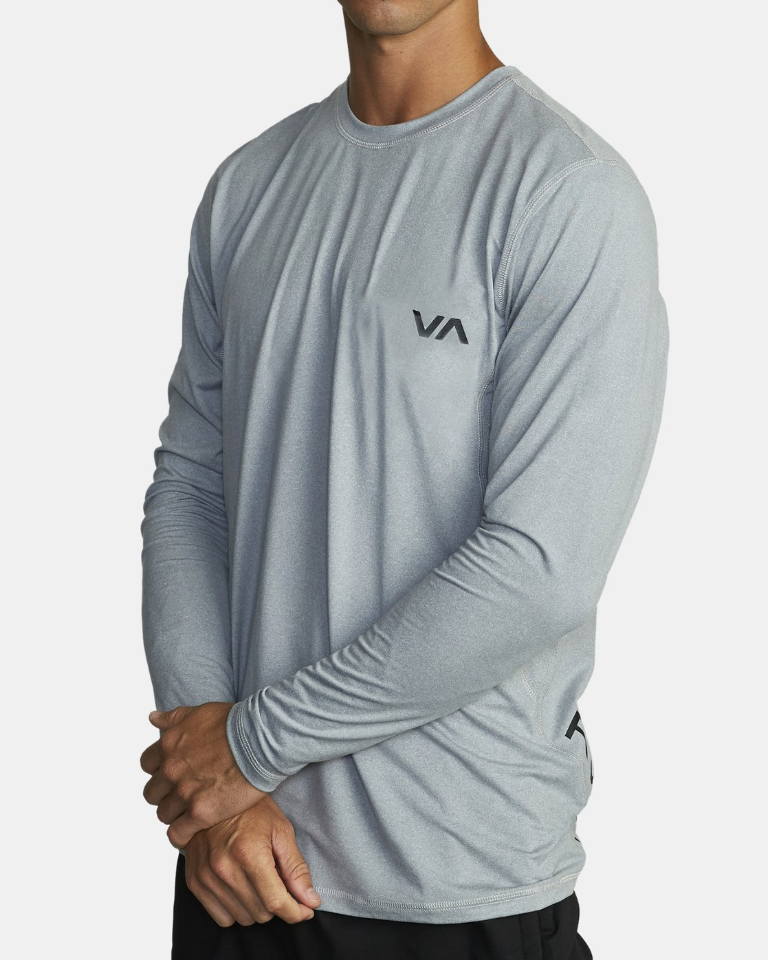 2 SPORT VENT LONG SLEEVE TEE Grey V9011RSV RVCA