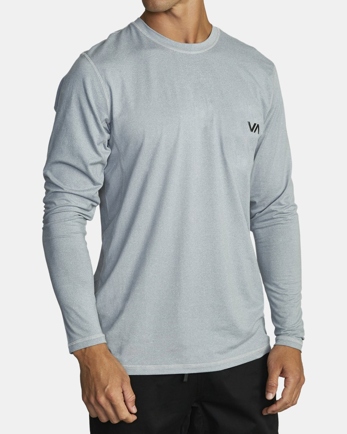 3 SPORT VENT LONG SLEEVE TEE Grey V9011RSV RVCA