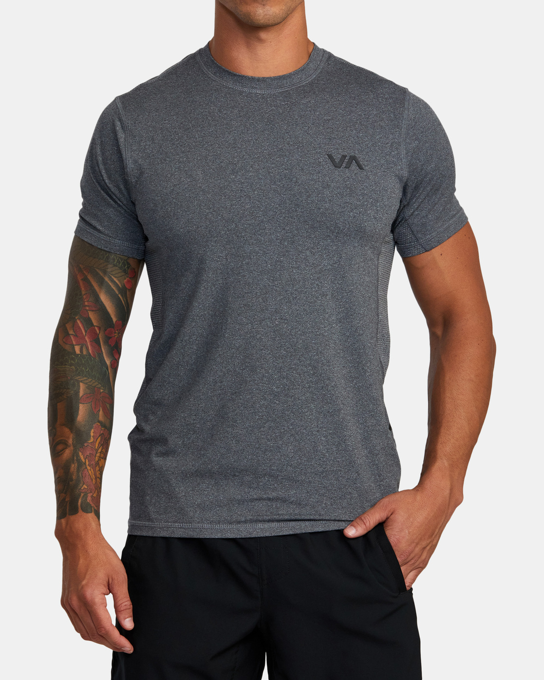 4 SPORT VENT SHORT SLEEVE TEE Brown V9021RSV RVCA