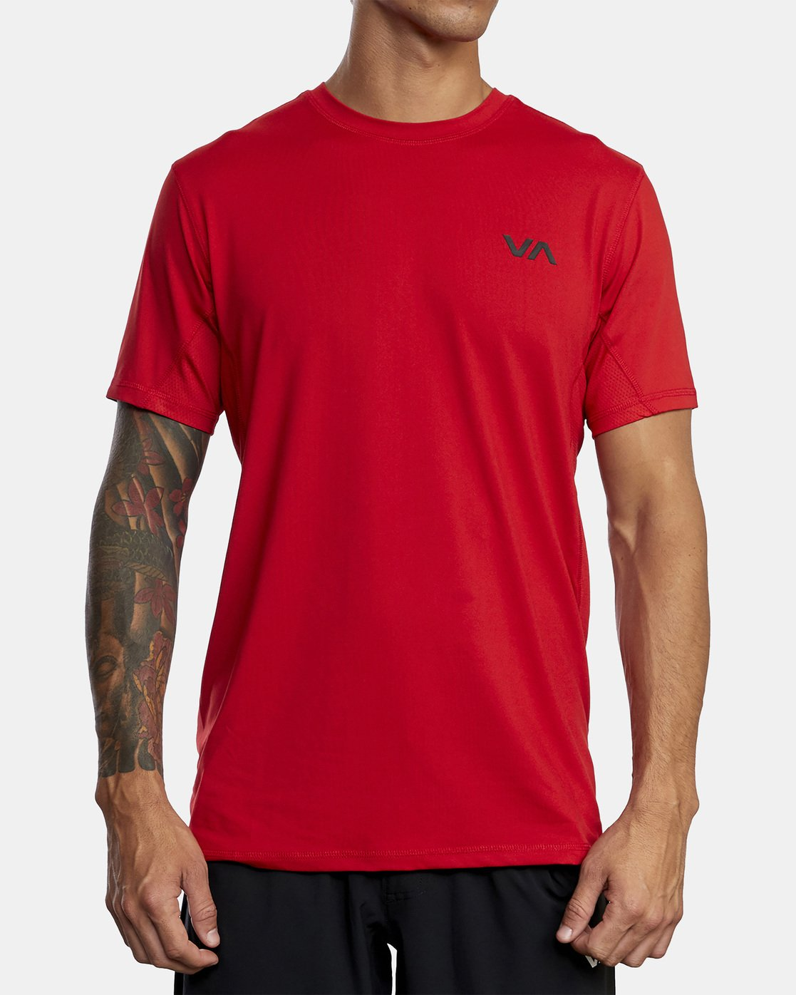 2 SPORT VENT SHORT SLEEVE TEE Red V9021RSV RVCA