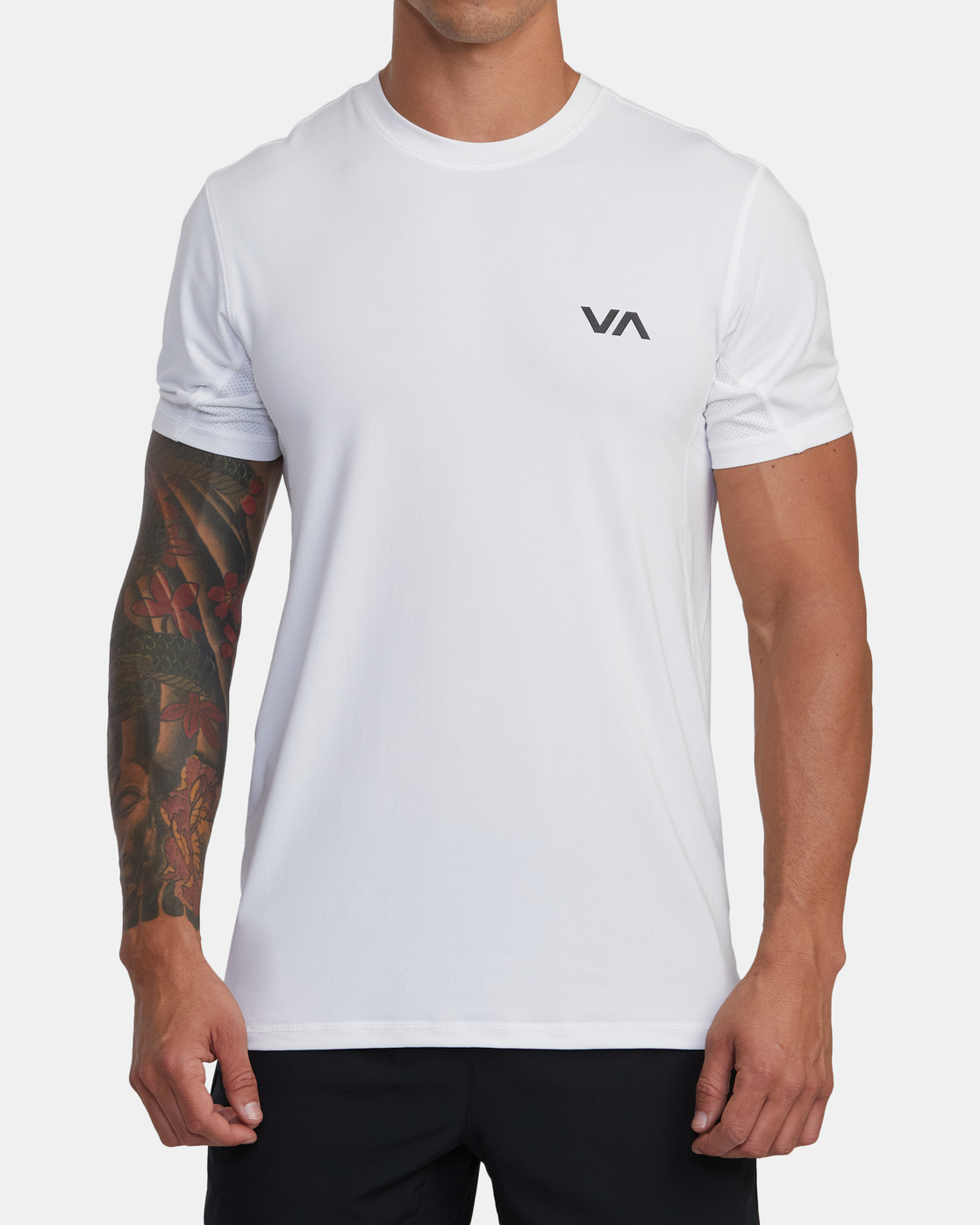 6 SPORT VENT SHORT SLEEVE TEE White V9021RSV RVCA