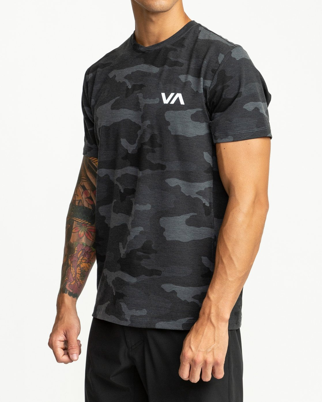 3 SPORT VENT SHORT SLEEVE TEE Brown V9021RSV RVCA