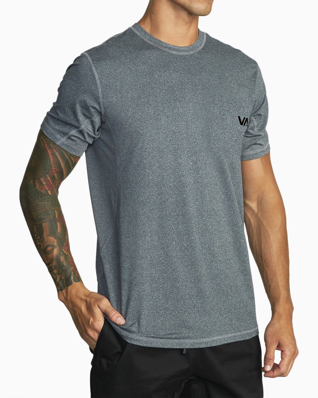 2 SPORT VENT SHORT SLEEVE TEE Brown V9021RSV RVCA