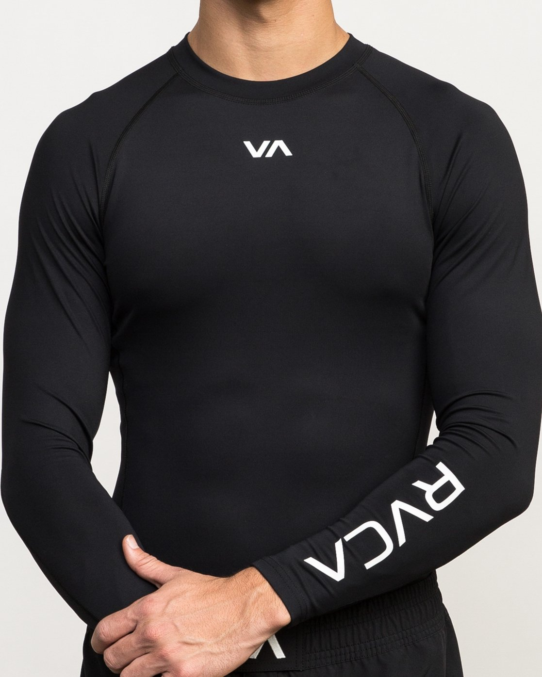 3 VA Performance Long Sleeve Shirt Black V902QRCL RVCA