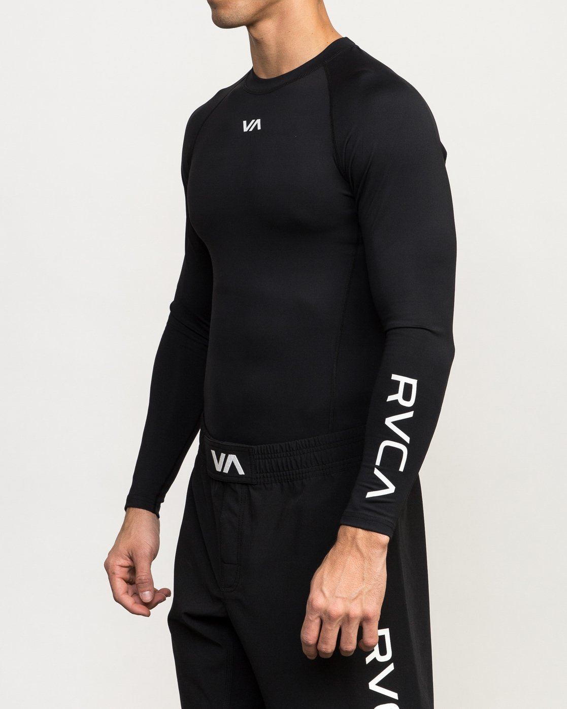 3 VA Performance Long Sleeve Shirt Black V902QRCL RVCA