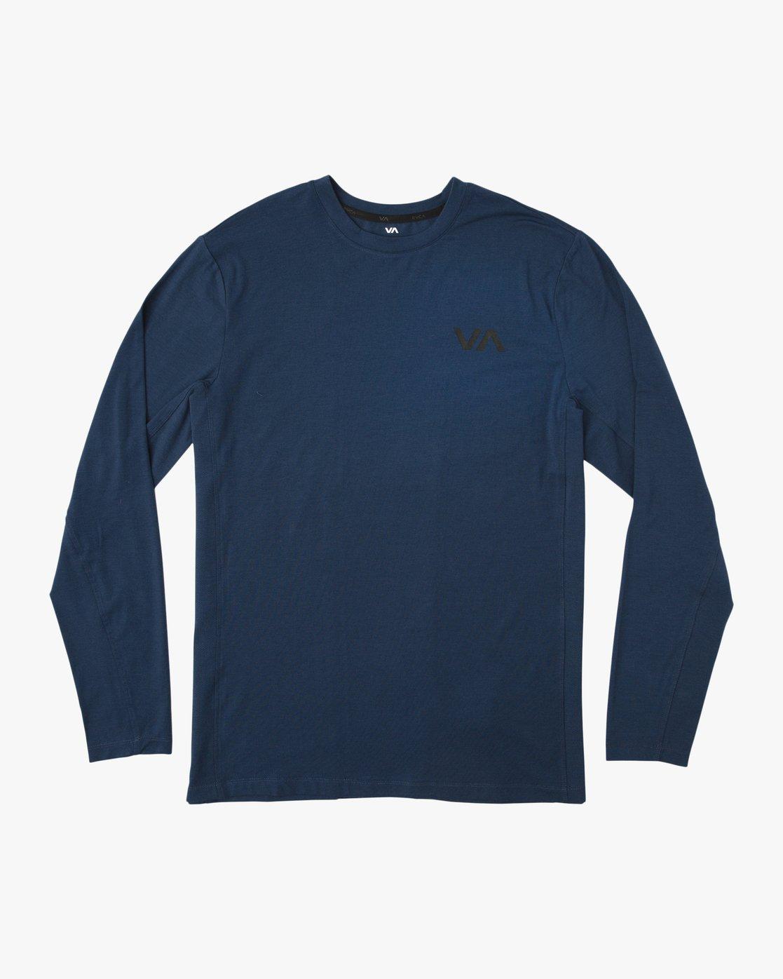 0 VA Vent Long Sleeve Top Blue V903QRVL RVCA