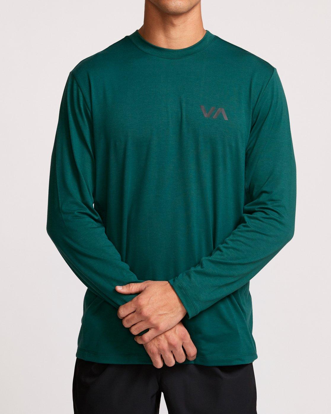 1 VA Vent Long Sleeve Top Green V903QRVL RVCA